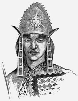 Sketch of Tupac Inca Yupanqui