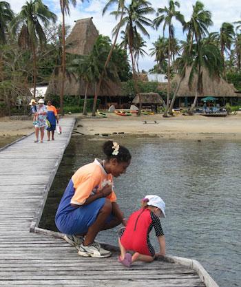 bock at Cousteau resort, Fiji