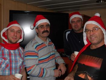 Christmas party onboard ship