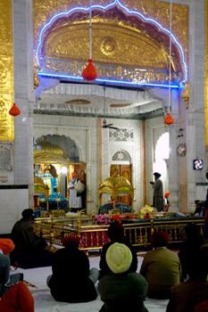 Sikh temple interior