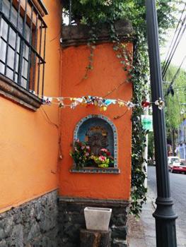 flags decorate La Roma building