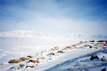 aerial view of Baffin Island, Nunavut