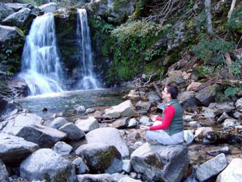 Cascada Inacayal waterfall