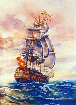 1700s Spanish sailing vessel