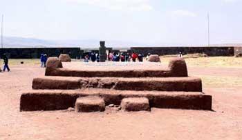 pyramid runis at Tiwanaku