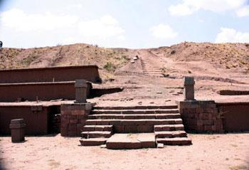 pyramid steps at Tiwanaku