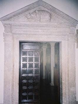 door in library