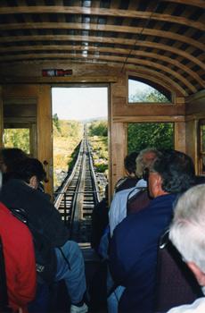 inside a railroad car