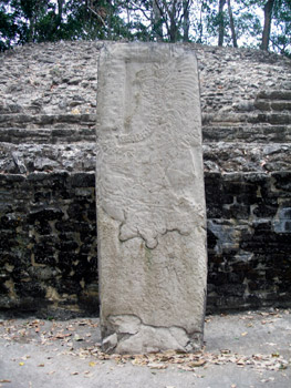 Carved stone stela