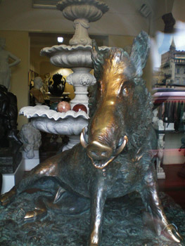 replica of bronze boar
