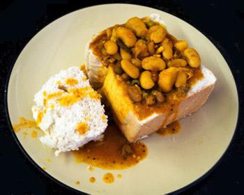 curry sandwich at Royal Durban Golf Club