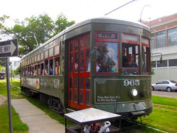 St. Charles trolley car