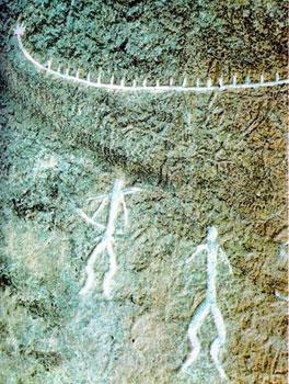 human figures in Gobustan petroglyphs