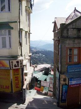 view of Himalaya mountains from Dharamsala