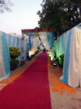 entrance to wedding