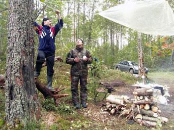 at campsite