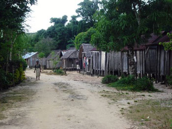 rural Madagascar village