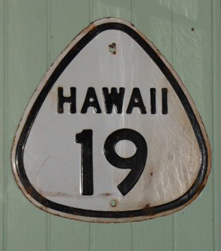Hawaii route 19 road sign
