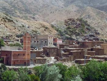 Villiage in high Atlas mountains