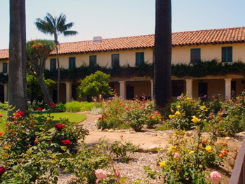 Mission Santa Barbara garden
