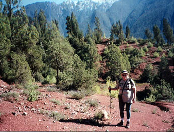 the author, Ruth Kozak, on her Morocco trek