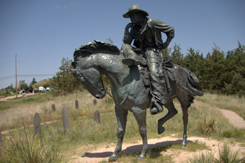 The Trail Boss sculputure in Boot Hill