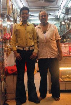 Kolkata shopkeeper and his son