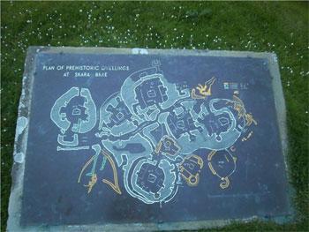 plan of Skara Brae prehistoric sites