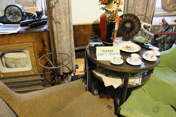 hidden record player in museum