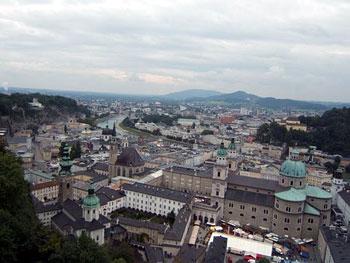 overview of Salzburg