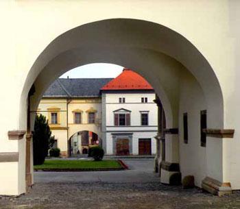 buildings in Slovak village