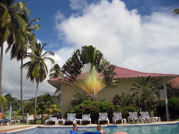 hotel swimming pool on Grenada
