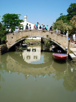 footbridge over canal in Torcello