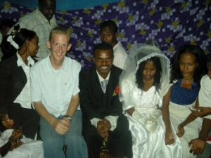 the author with wedding party in Ethiopia