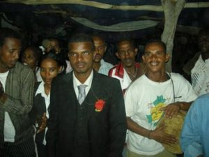 the groom at an Ethiopian wedding
