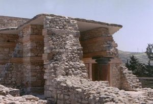 stone remains of Knossos palace, Crete