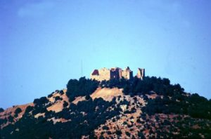 Aljoun castle, distance view