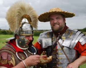 recreating Roman soldiers near Hadrian's wall
