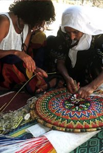 Bedouin women weaving
