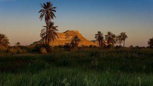 Siwa Oasis at sunset