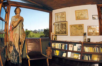 interior of Neruda's house