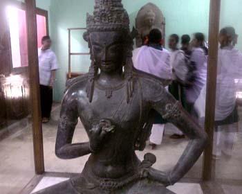 Buddha in a Vajrasattva pose in Comilla museum