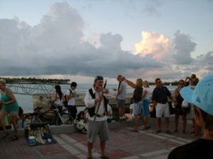 tourists and locals in Key West, FL