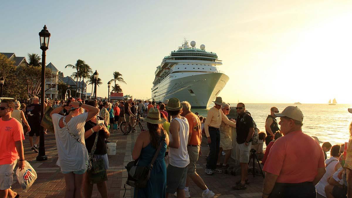 Key West pier at Sunset