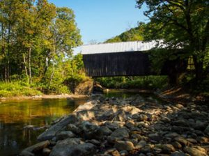 covered bridge in Chelsea Vermont