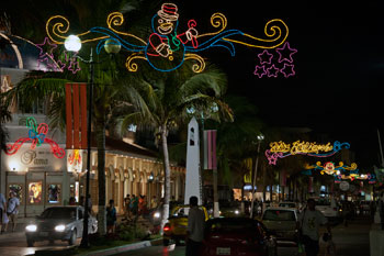 Cozumel Christmas lights