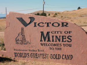 Victor Colorado welcome sign