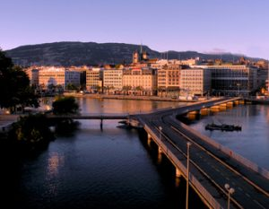 Geneva at dusk