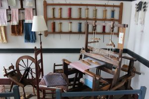 spinning wheel and loom