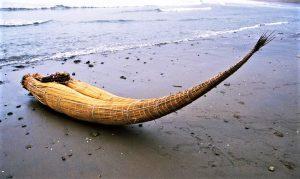 Totora raft